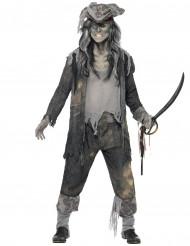 Zombie Geister Pirat Halloween Kostüm grau