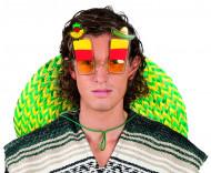 Mexiko-Brille Sombrero-Brille gelb-rot-grün
