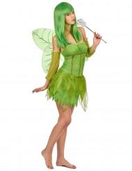 Feen-Damenkostüm Elfen-Frauenkostüm grün