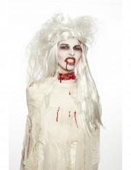 Zombie Damen Make-Up Schminke rot-weiss-schwarz