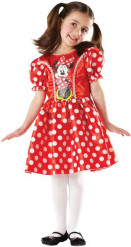 Minnie Maus Disney Kinderkostüm rot-weiss