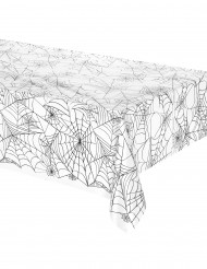 Halloween transparente Tischdeko Spinnennetz-motiv schwarz