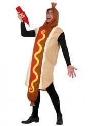 Hot Dog Unisex-Kostüm braun-beige-rot