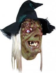 Schaurige Hexenmaske mit Pestbeulen Halloween-Accessoire