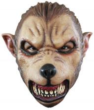 Böser Wolf Maske braun