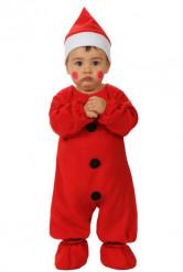 Weihnachtsmann-Kostüm für Babys, rot