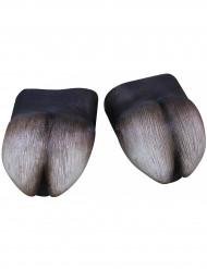 Hufe Schuhüberzieher Tierkostüm Accessoire grau