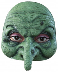 Hexen-Halbmaske Kostümaccessoire Halloween grün