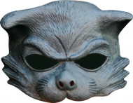 Halbmaske Katze Kostümaccessoire grau
