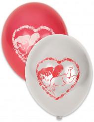 Liebesengel Luftballons Valentinstag-Deko 10 Stück rot-weiss