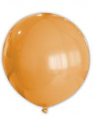 Riesiger runder Luftballon Raumdekoration orange 80 cm