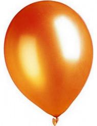 Metallic Luftballons Ballons Party-Deko 100 Stück orange 30cm