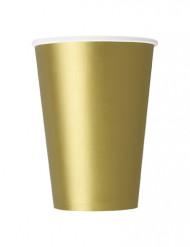 Party Pappbecher 10 Stück gold