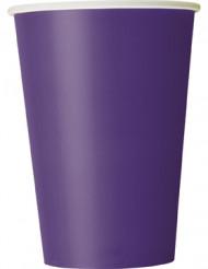 Partybecher Pappbecher 10 Stück lila-weiss