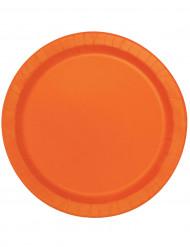 Party-Teller runde Teller 16 Stück orange 22cm