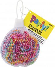 Perlenketten Party-Accessoire 6 Stück bunt