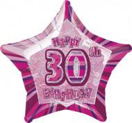 Happy Birthday Stern Luftballon 30 Jahre pink