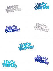 Tischdeko Happy Birthday Konfetti blau-silber 14g
