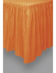 Halloween Tischrock gefaltet orange   73 x 426 cm
