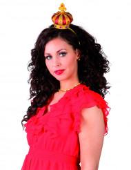 Prinzessinnen-Krone Minihut Kostüm-Accessoire bunt