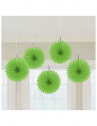Waben-Hängedekoration Party-Deko 5 Stück grün 15cm