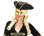 Augenmaske Venezianisch metallic-gold