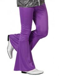 70er Jahre Disco Schlaghose für Herren violett