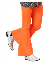 70er Jahre Disco Schlaghose für Herren orange