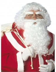 Weihnachtsmann-Accessoire-Set Bart, Augenbrauen und Perücke Santa-Claus-Set weiss
