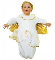 Engel Babykostüm Faschingskostüm weiss-gold