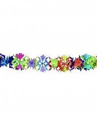 Papier Girlande Blumen bunt 6m