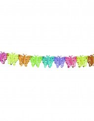 Girlande Schmetterlinge Party-Deko bunt 6mx15cm