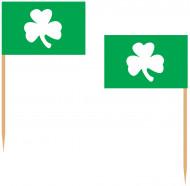 Kleeblatt-Party-Picker St. Patrick's Day Deko 50 Stück grün-weiss-beige