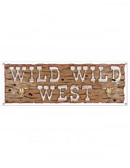 Western Banner Party-Deko braun 1,5mx53cm