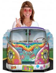 Party Deko Pappaufsteller Hippie Bus bunt 94x64cm