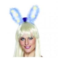 Leuchtende Hasenohren Haarreif blau