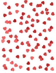 Herz-Konfetti Glitzerherzen Valentinstag-Deko rot 14g