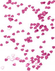 Herz-Konfetti metallic pink