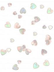 Glänzende Konfettiherzen Tischdeko transparent-bunt 14g