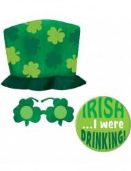 St. Patrick's Day Accessoire Set 3-teilig grün