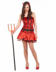 Verführerisches Teufels-Kostüm rot