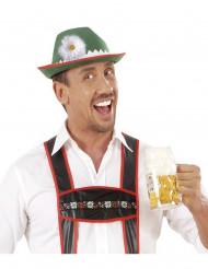Tiroler Hut mit Gänseblümchen grün-weiss-rot