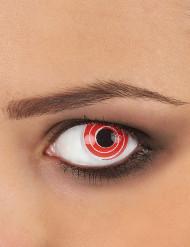Kontaktlinsen Spirale weiss-rot