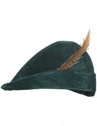 Jäger-Hut mit Feder grün-braun