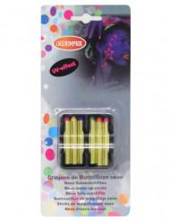 Make-Up Schmink-Stifte 6 Farben fluoreszierend bunt 7,2g