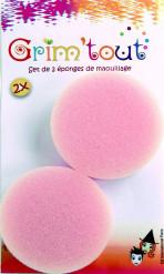 Make-Up Schwämme 2 Stück rosa 1,5cm