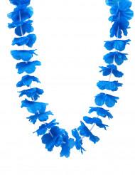 Blumen Kette Hawaii Accessoire blau