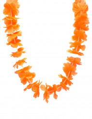 Hawaii-Blumenkette Sommerparty-Accessoire orange