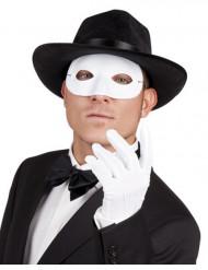 Augenmaske Halbmaske für Erwachsene weiss