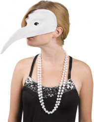 Venezianische Schnabel-Maske weiss